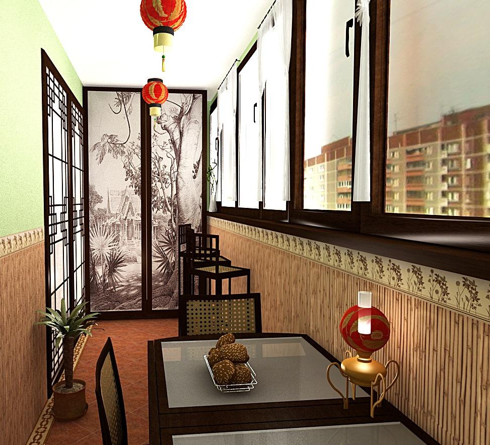 балкон в стиле восточном фото